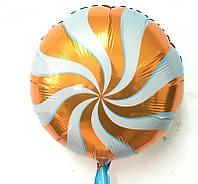 Фольгированный круглый шар, ЛЕДЕНЕЦ ОРАНЖЕВЫЙ - 44 см (18 дюймов)