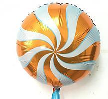 Фольгований круглий куля, ЛЬОДЯНИК ПОМАРАНЧЕВИЙ - 44 см (18 дюймів)