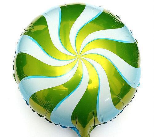 Фольгированный круглый шар, ЛЕДЕНЕЦ САЛАТОВЫЙ - 44 см (18 дюймов)