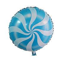 Фольгований круглий куля, ЛЬОДЯНИК СИНІЙ - 44 см (18 дюймів)