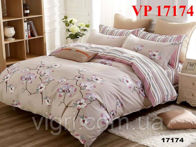 Постельное белье, двухспальное, ранфорс Вилюта «VILUTA» VР 17174