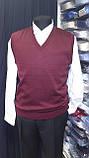Бордовый вязанный жилет, фото 3