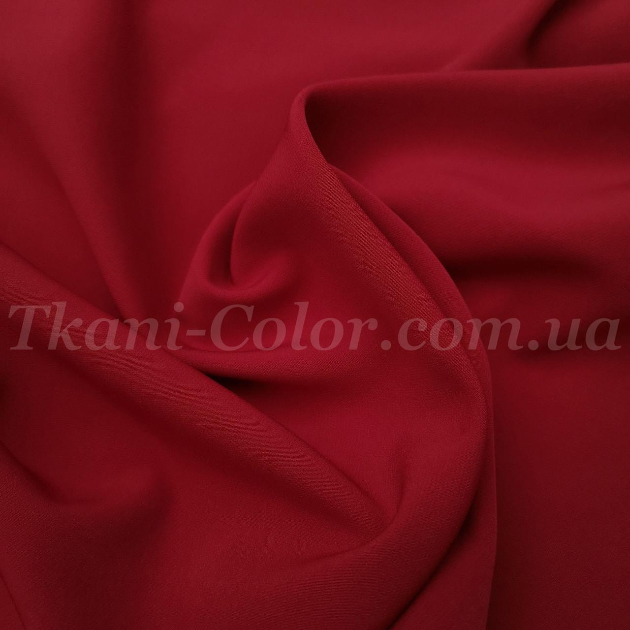 Костюмная ткань креп барби вишневая