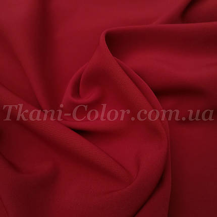 Костюмная ткань креп барби вишневая, фото 2