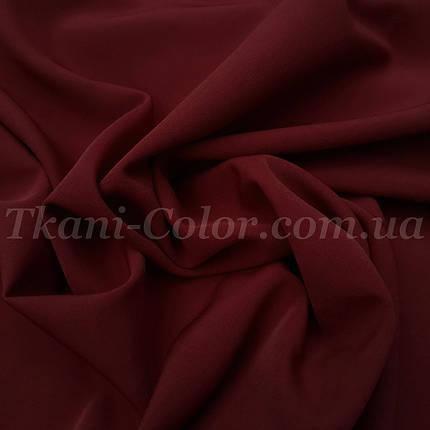 Костюмная ткань креп барби бордовая, фото 2