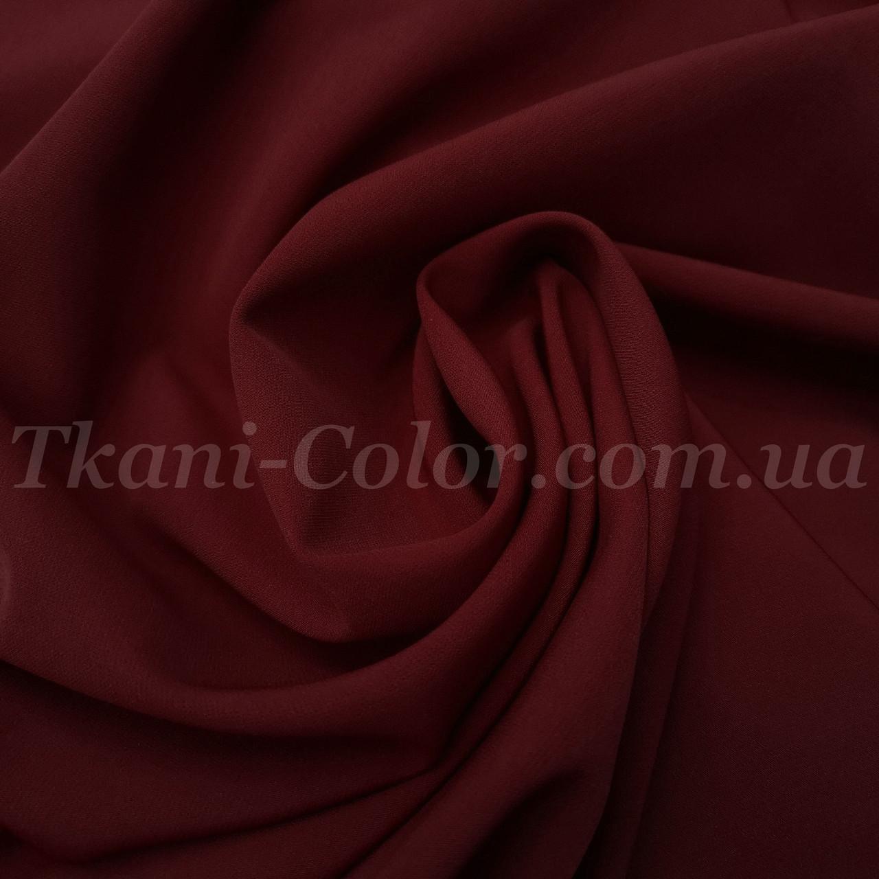 Костюмная ткань креп барби бордовая