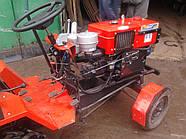 """Адаптер-мототрактор ТМ """"Ярило"""" (для мотоблоков водяного охлаждения, приводные ремни внизу, + колеса)"""