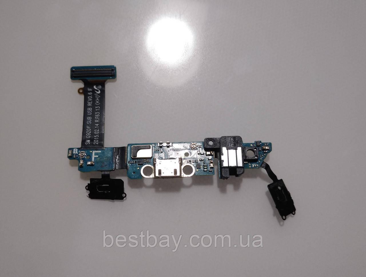 Samsung Galaxy S6 G920F нижняя плата ОРИГИНАЛ