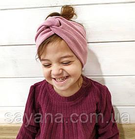 Детская повязка на голову для девочек в расцветках. БЛ-2-0319