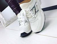 Кроссовки женские белые на шнурках 36-41