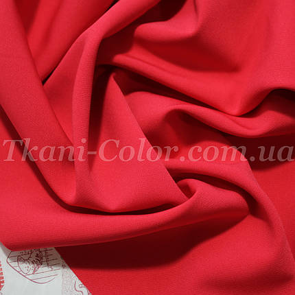 Костюмная ткань креп барби красная, фото 2