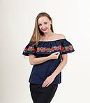 Эффектная вышитая блуза  и воланами, фото 2