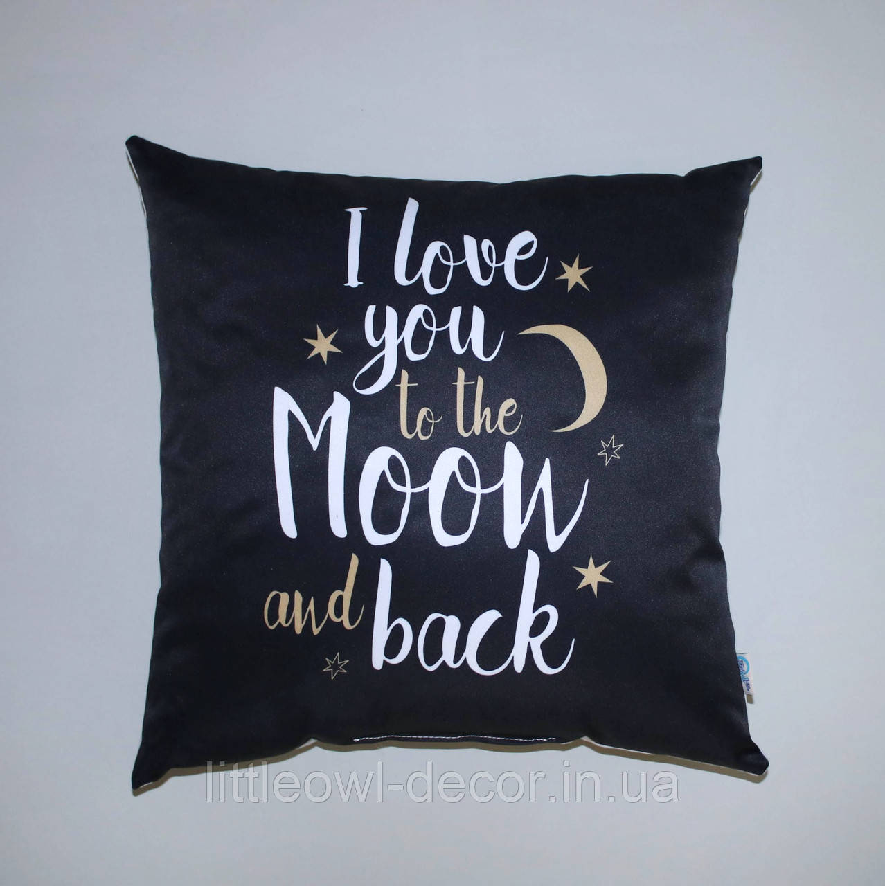 Подушка чёрная Moon&back 40х40см
