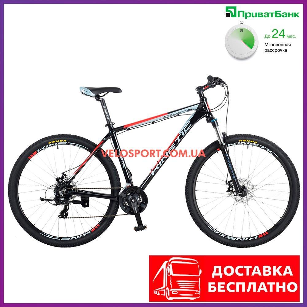 """Горный велосипед Kinetic Crystal 29 дюймов 18"""" черно-красный"""