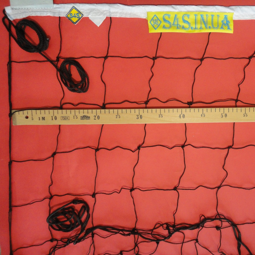 Волейбольная сетка «ЭКОНОМ 12» черно-белая