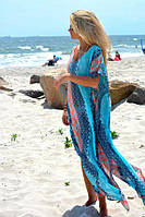 Пляжная туника макси разноцветная Д-103, фото 1
