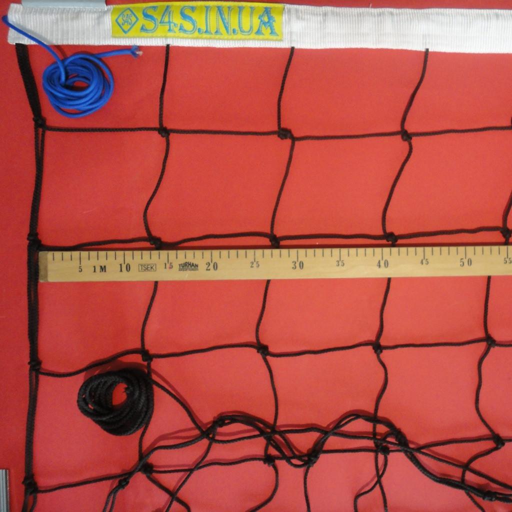 Волейбольная сетка  «ЭЛИТ 15» черно-белая