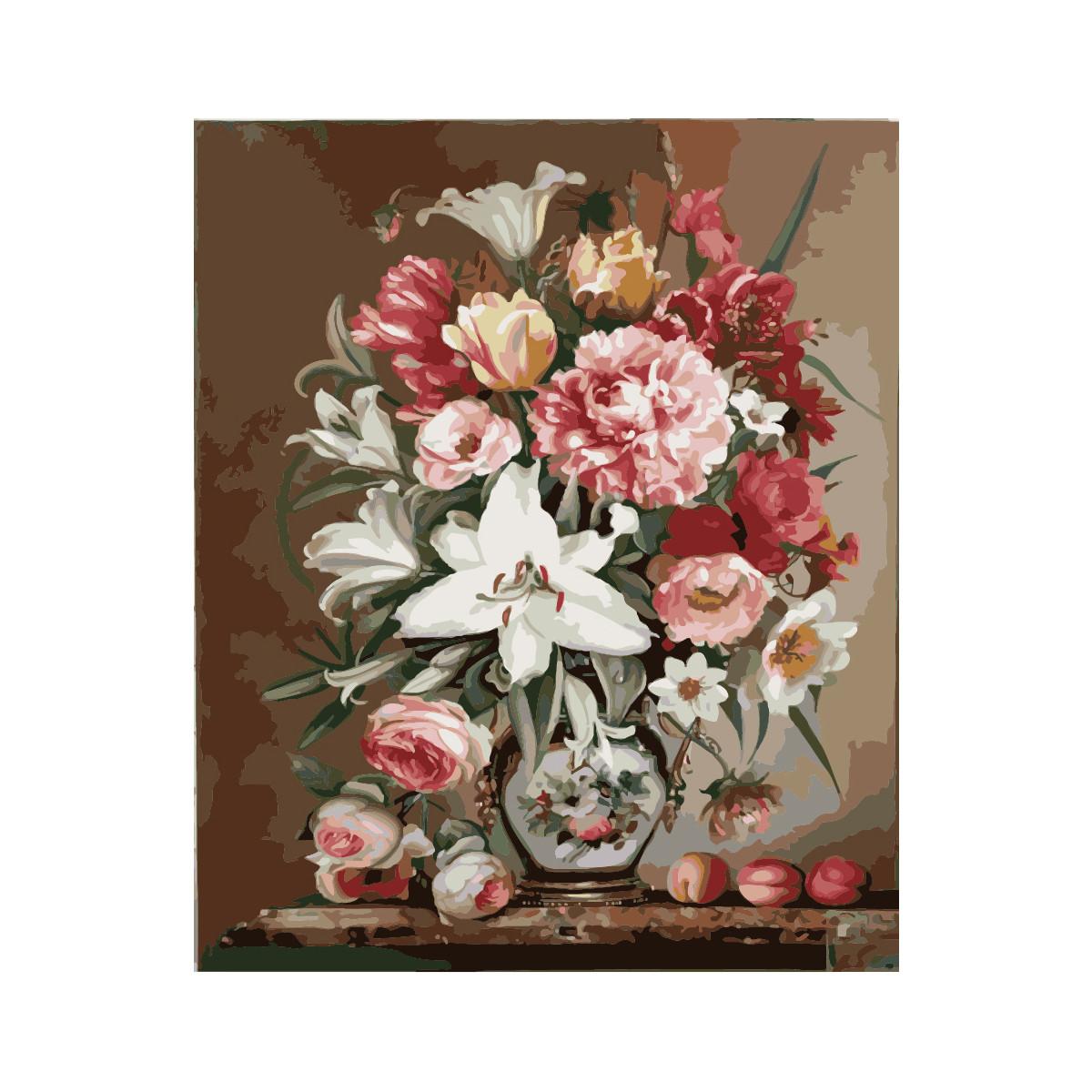Картина по номерам Роспись на холсте Весенний букет MG1120 40*50 (без коробки)