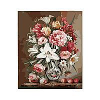 Картина по номерам Роспись на холсте Весенний букет MG1120 40*50