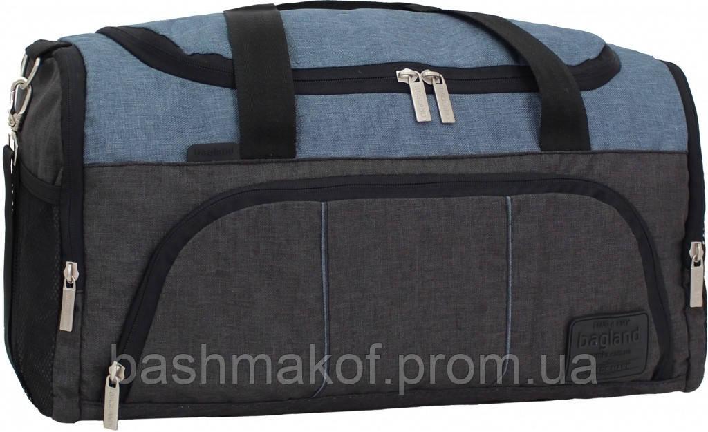 2c24dc3a Дорожная сумка Bagland Bloom 30869 черная с серым спортивная через плечо  51см 30л - Bashmakoff.