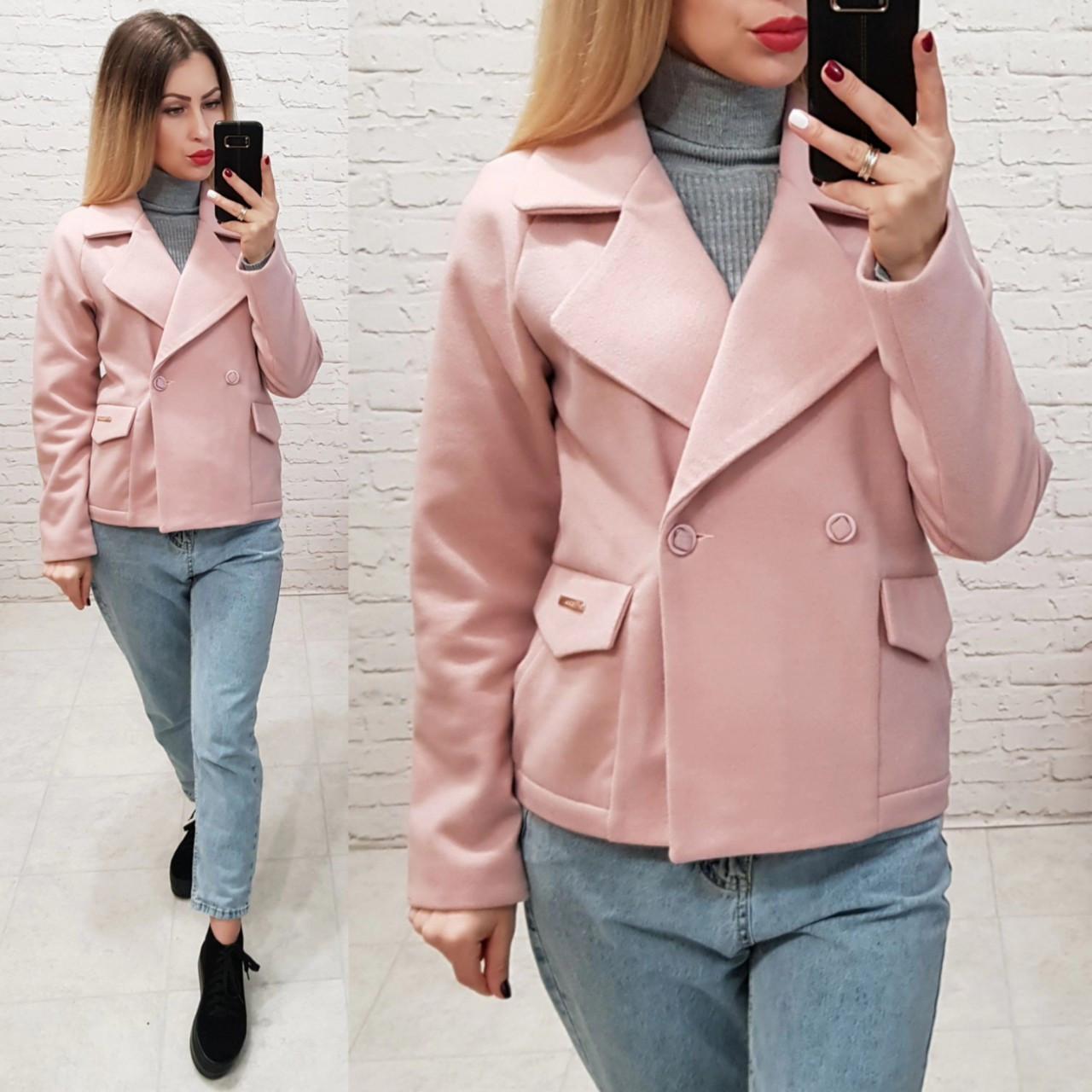 Пальто кашемировое с капюшоном, модель 826, цвет - розовый