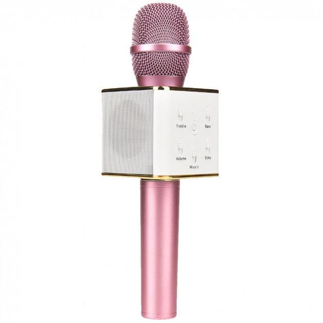 Мікрофон караоке Wster Q7 Bluetooth+портативний USB Pink
