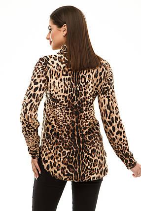 Блузка 294 коричневый леопард, фото 2
