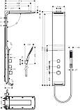 Гидромассажная панель Hansgrohe Raindance Lift 27008400, фото 2