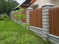 Забор комбинированный