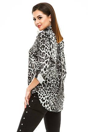 Блузка 294 серый леопард, фото 2