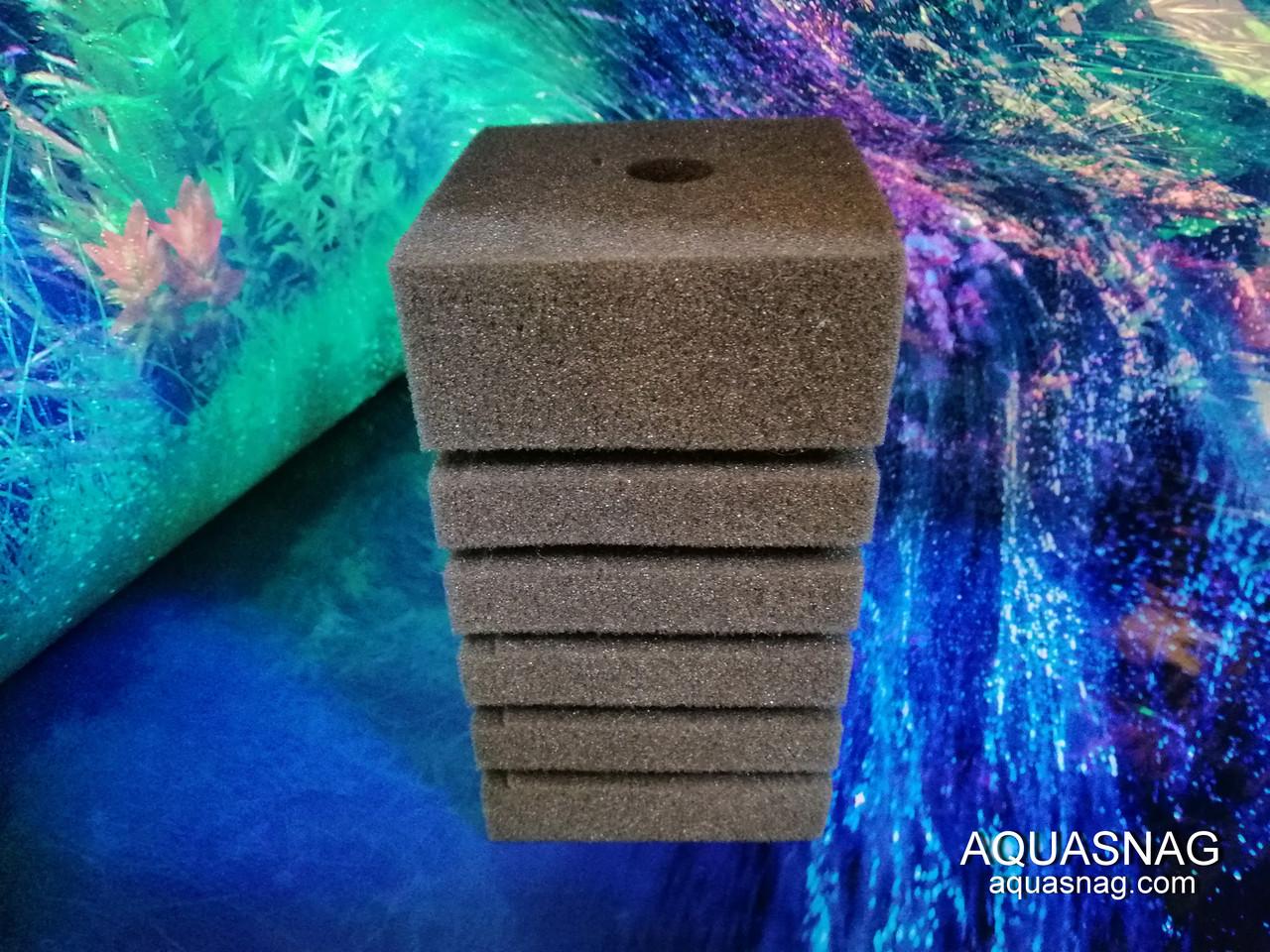 Мочалка серая (8*8*14)см, с прорезями для лучшей фильтрации
