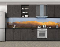 Пустынные холмы, Пленка для кухонного фартука с фотопечатью, Природа, бежевый
