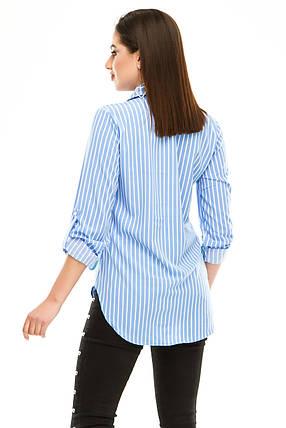 Блузка 294 голубая полоска, фото 2