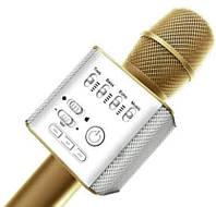 Микрофон c функцией караоке портативный Bluetooth Wster Q9 Gold, фото 1
