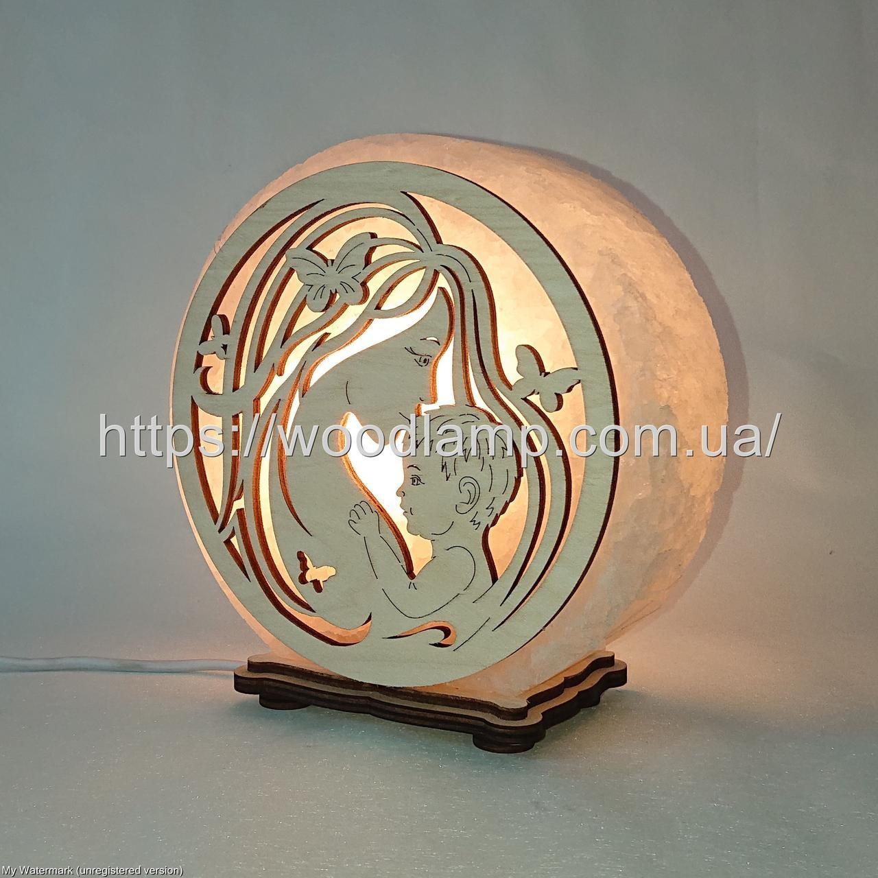 Соляная лампа круглая Мать с ребенком