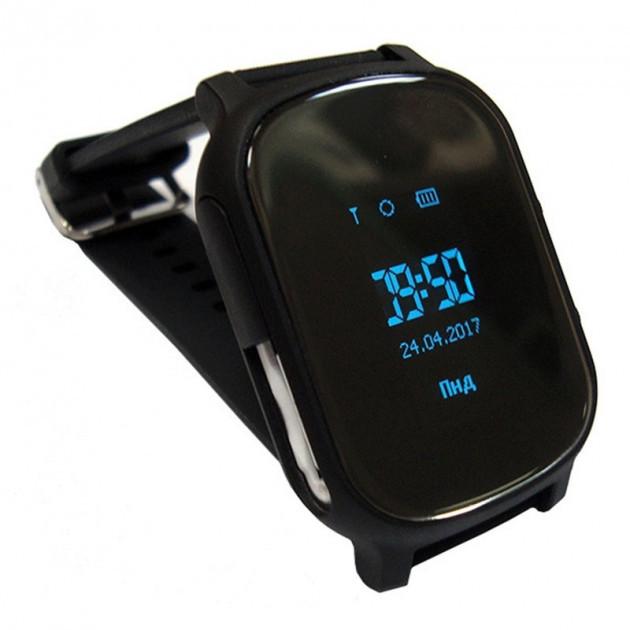 Смарт часы-телефон с GPS T58 черные