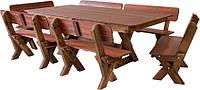 Комплект Стол и 6 лавок