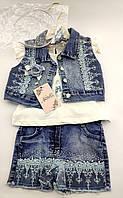 Детский костюм 2 3 4 года Турция для девочки детские костюмы джинсовый летний