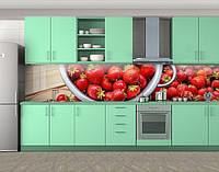 Свежая клубника, Самоклеящаяся стеновая панель для кухни, Еда, напитки, красный