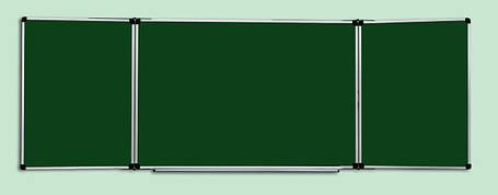 Доска комбинированная (для мела, маркера) ABC Office (300x100), в алюминиевой рамке, трехсекционная, фото 2
