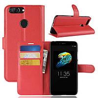 Чехол-книжка Litchie Wallet для Lenovo S5 Красный