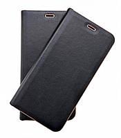 Кожаный чехол-книжка для Samsung Galaxy J7 Neo J701 Florence TOP №2 черная, фото 1