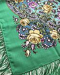 Звездочка моя 1808-9, павлопосадский платок шерстяной  с шелковой бахромой, фото 5