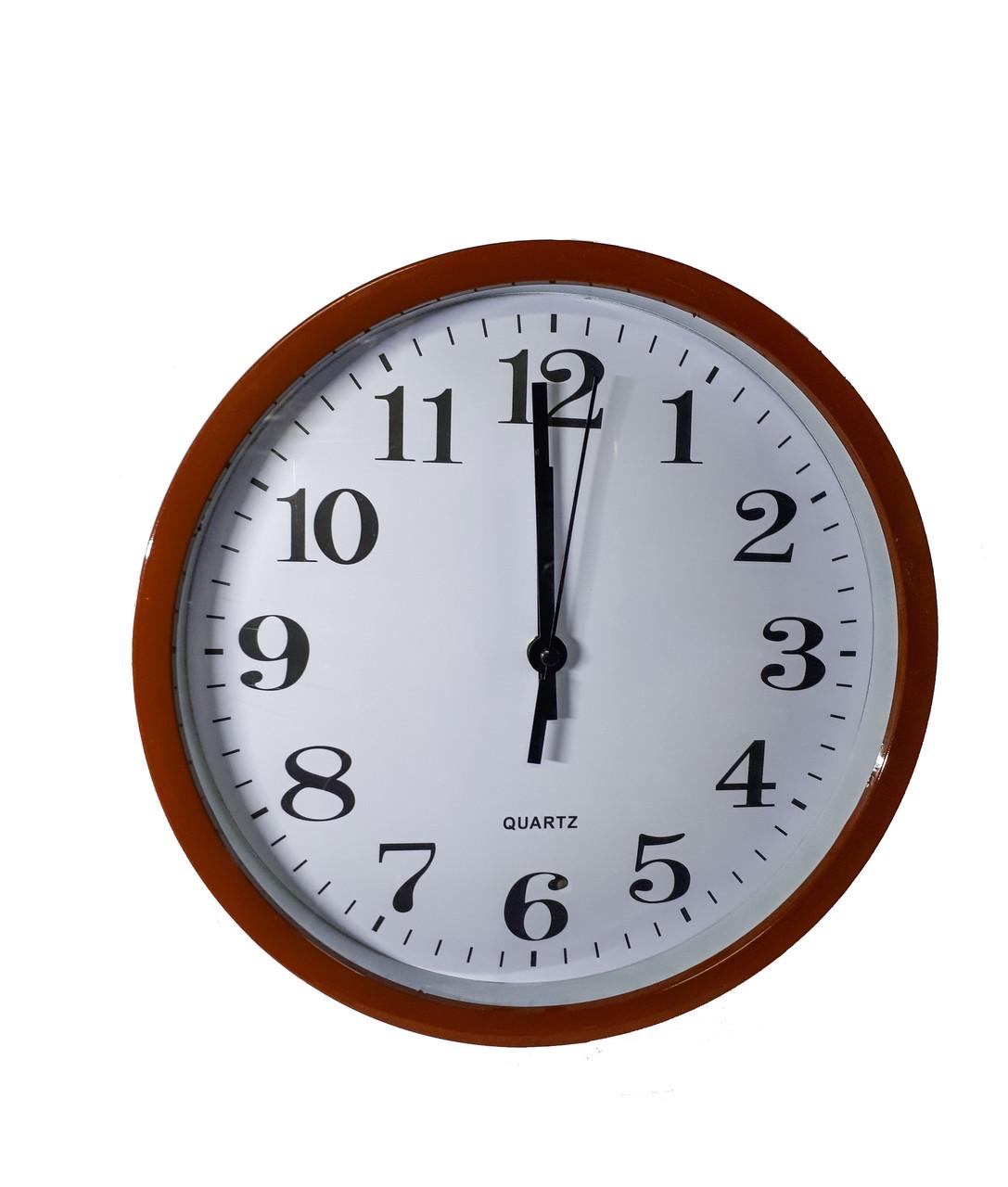 Часы настенные круглые Abir 201BLR  Коричневый