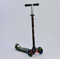 """Самокат А 25462 /779-1317 MAXI """"Best Scooter"""" пластмассовый, 4 колеса PU, СВЕТ, трубка руля алюминиевая, d=12"""