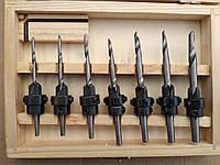 Набір зенківок (свердел зенкеров) по дереву 7 шт., фото 1