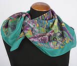 Нюанс 10006-9, павлопосадский шейный платок (крепдешин) шелковый с подрубкой, фото 2