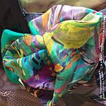 Нюанс 10006-9, павлопосадский шейный платок (крепдешин) шелковый с подрубкой, фото 7
