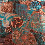 Палантин шерстяной 10219-16, павлопосадский шарф-палантин шерстяной (разреженная шерсть) с осыпкой, фото 6