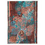 Палантин шерстяной 10219-16, павлопосадский шарф-палантин шерстяной (разреженная шерсть) с осыпкой, фото 4